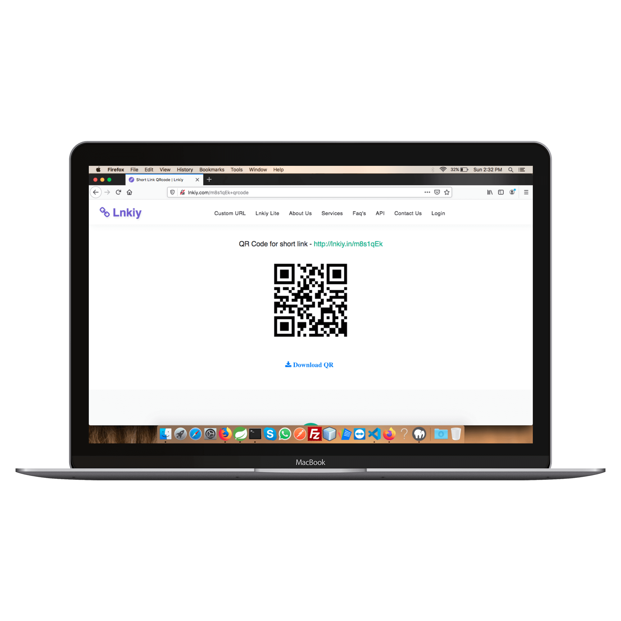 Generator QR Code With Lnkiy